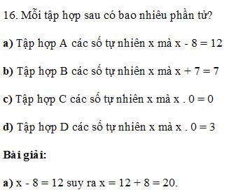 Hướng dẫn giải các bài toán thuộc phần số phần tử của tập hợp, tập hợp con  cơ bản